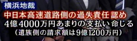 地裁判決_笹子トンネル事故