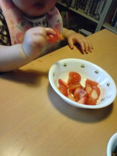 イチゴとトマトのサラダ