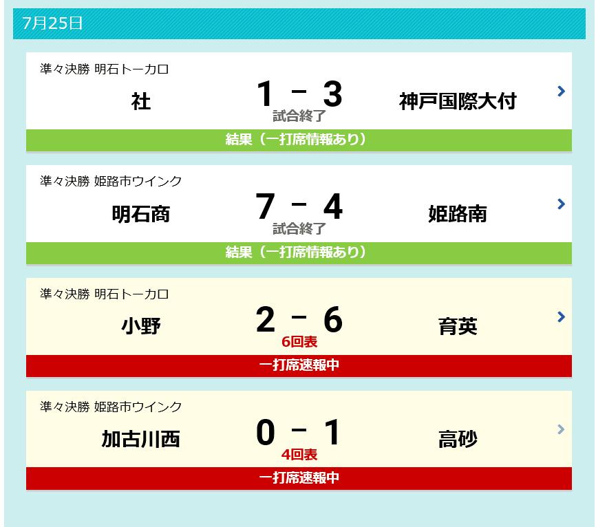 野球 兵庫 速報 高校 県