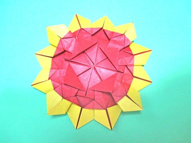 ひまわり 方 折り紙 折り
