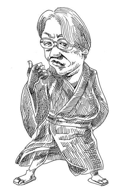 京極夏彦の似顔絵