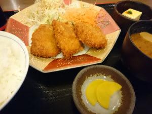 Xperia Z3 Compactでの料理写真。名古屋大須なごみどりの「元祖 やわらか地鶏カツ定食」