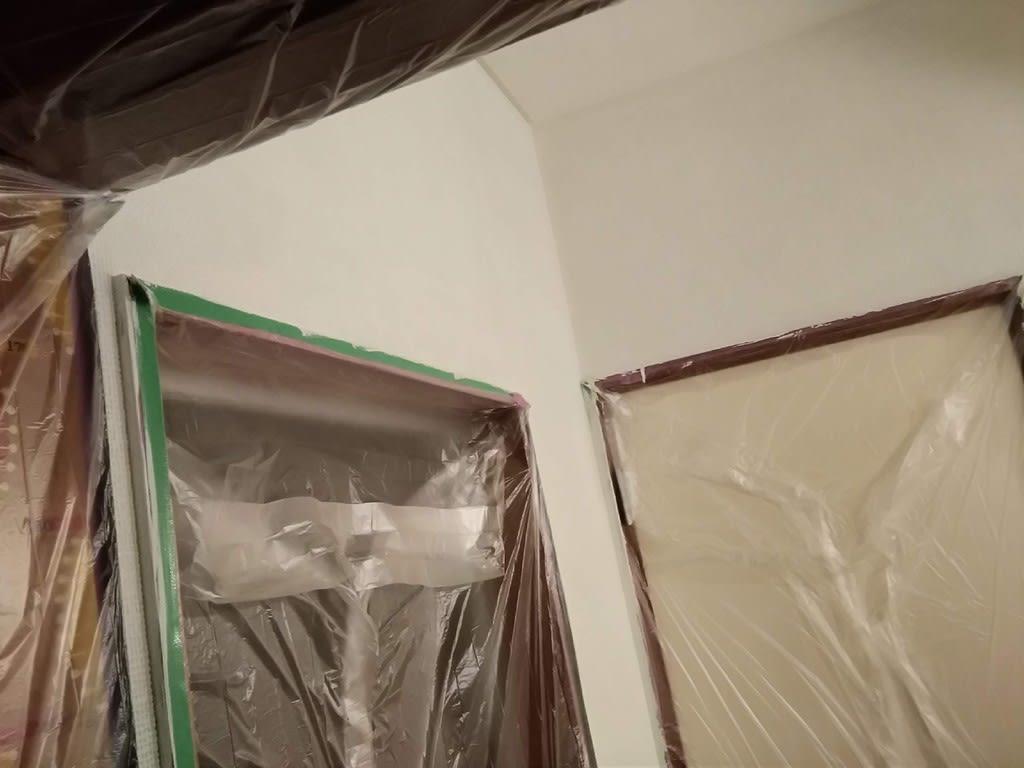 洗面所壁塗装