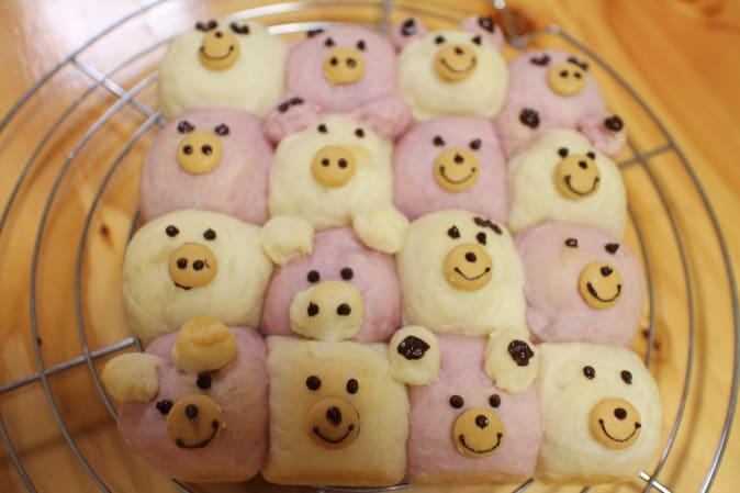動物ちぎりパン 岡山 フラワーケーキ教室 餡フラワークラフトバター