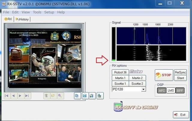 RX-SSTVの入力レベル/Satellite - 素人のサテライトと仲間達