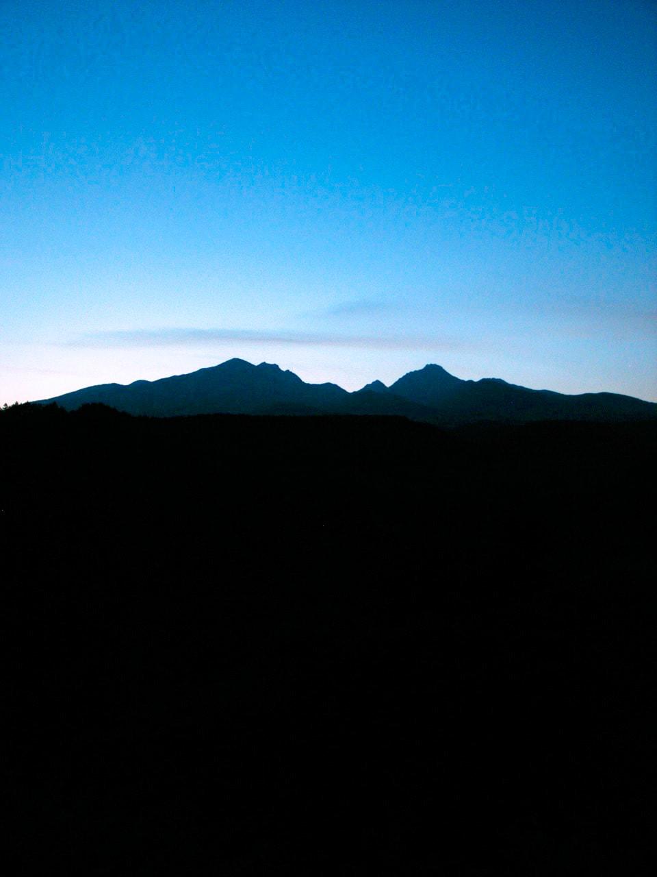 八ヶ岳シルエット 八ヶ岳田舎暮し 移住のススメ Morish Country