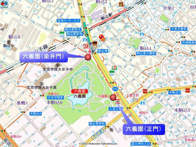 六義園の地図