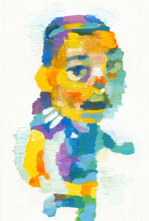 長谷川唯選手の似顔絵イラスト画像