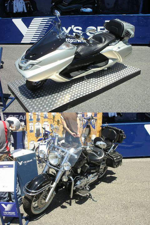 070623舞洲ヤマハ試乗会カスタム:ワイズギアはヤマハバイクの魅力度アップに大きく貢献している