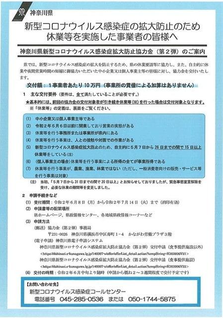 協力 コロナ 神奈川 金 県