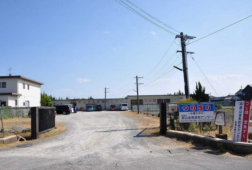 郡山金魚卸売センター入口