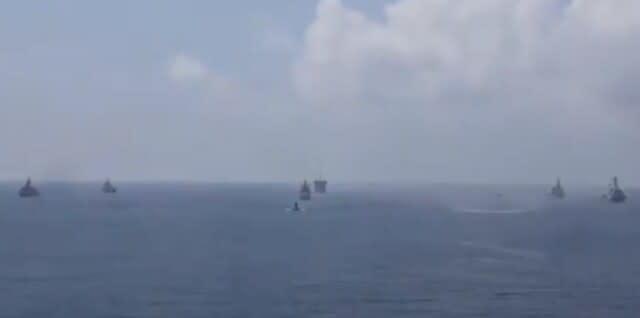 マラバル2020,シヴァリク級フリゲート艦,シヴァリク,米海軍,インド海軍,オーストラリア海軍,USSジョンマケイン,おおなみ,護衛艦,クアッド,navy,malabar2020,defence,IndianNavy,JMSDF,