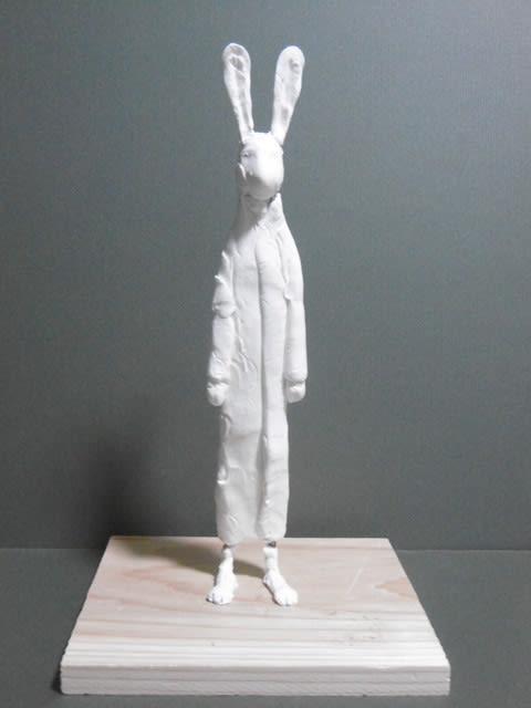 日本 彫刻家】「ウサギ人」【樹脂粘土】 - <彫刻家>大河原隆則の ...
