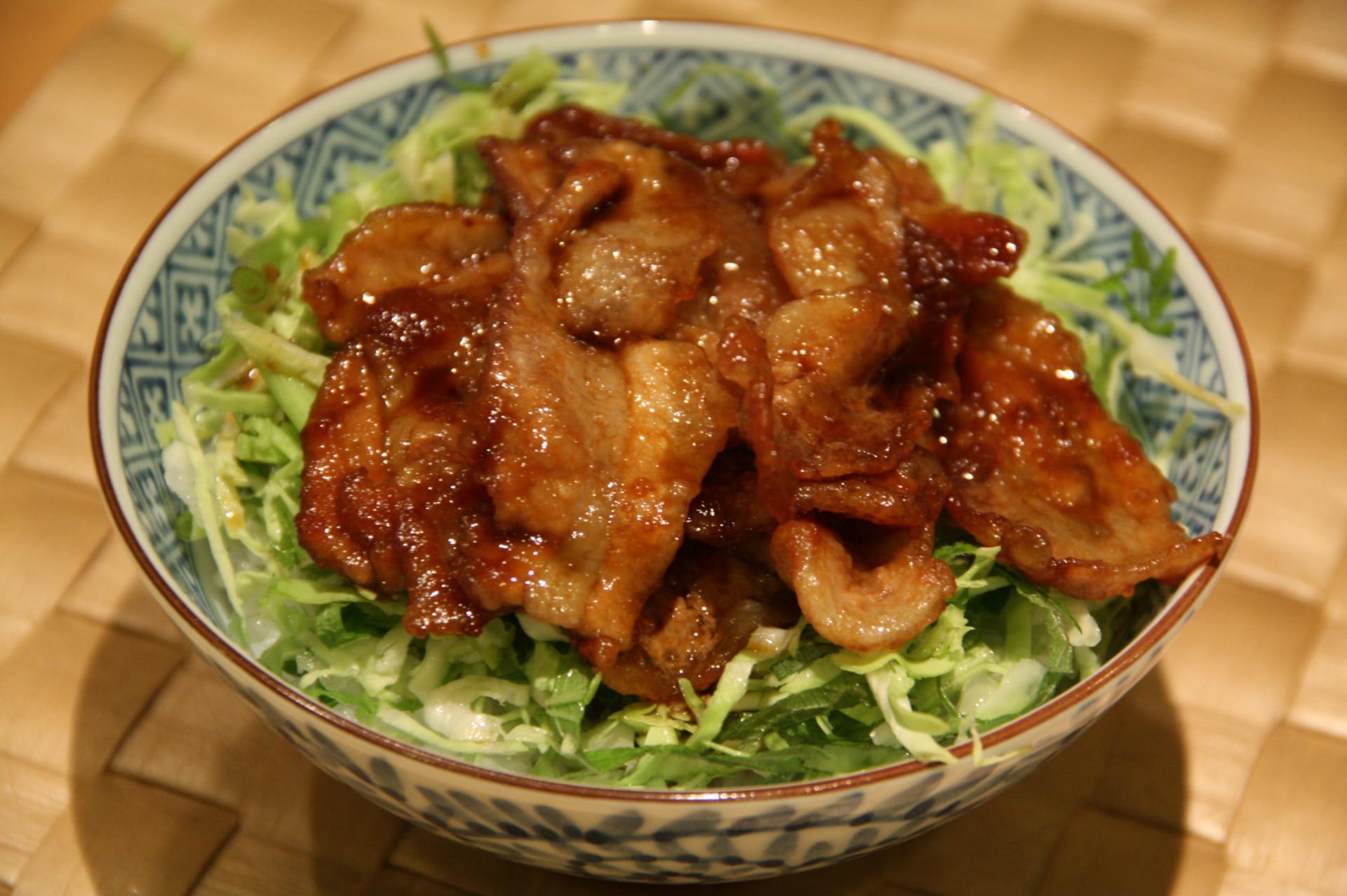 豚薄切り肉の甘辛丼(ぶたうすぎりにくのあまからどん ...