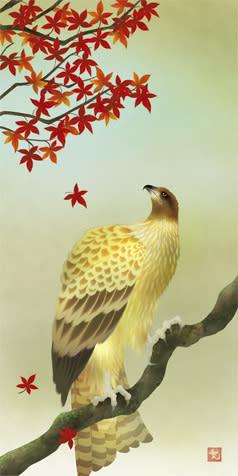 和風 イラスト 鳶 鳥
