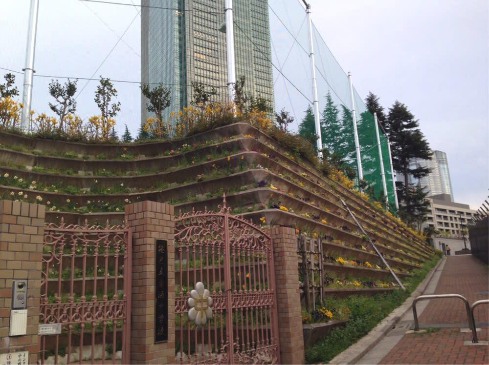 港区立赤坂中学校の、坂 - 食い...