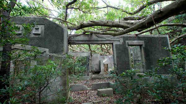 無人島・江仁屋離(その3) 戦争時代の施設等 - 奄美自然観察記