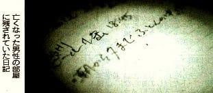 亡くなった男性の部屋に残されていた日記