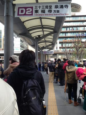 京都駅前のバス停