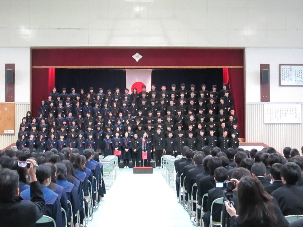 平田中学校卒業式 3年間を振り返...