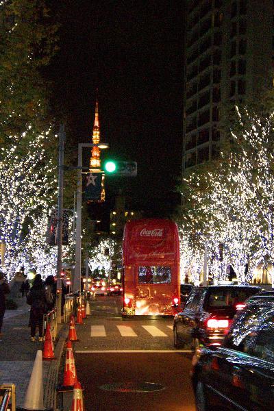東京タワーとクリスマスツリー
