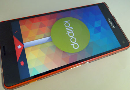 Android5.0 LollipopにバージョンアップしたXperia Z3 Compact SO-02G