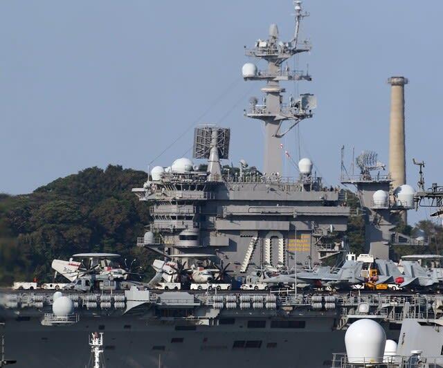米海軍原子力空母カールビンソン,横須賀基地,F35C,ステルス戦闘機,与那国島,与那国島中国艦,中国艦常駐,,