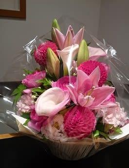 米寿お祝いの花かご