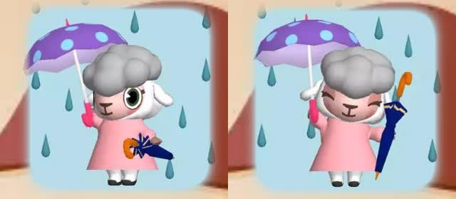 天気情報「雨」のメイドのメイちゃん