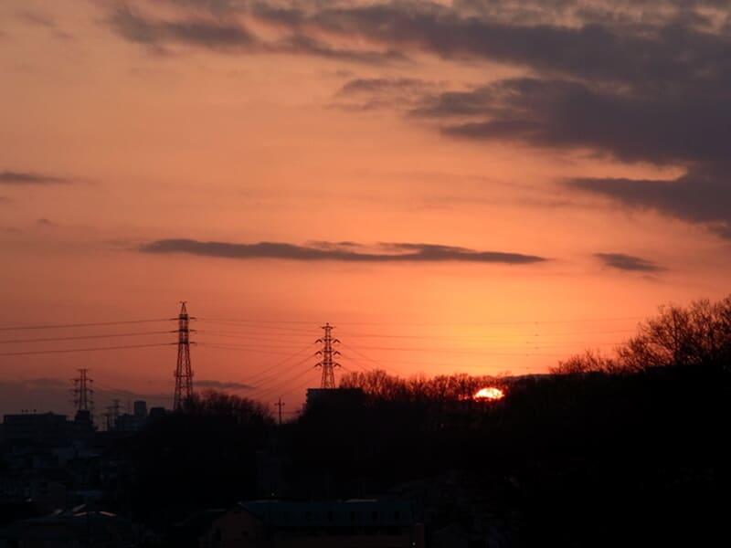 01月31日 根岸台の夕陽