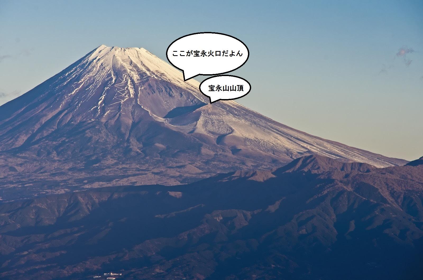 富士山 宝永山火口 - なおたら日...