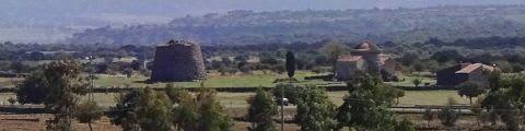 シラヌスの教会とヌラーゲ - 乗った後の景色