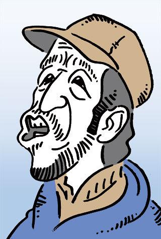 田中邦衛の似顔絵