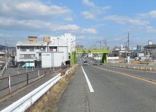 広島県道22号福山鞆線と草戸歩道橋