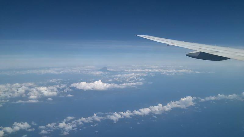 帰りは富士山を左にみながら…