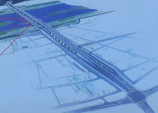 新橋建設に伴う道路新設