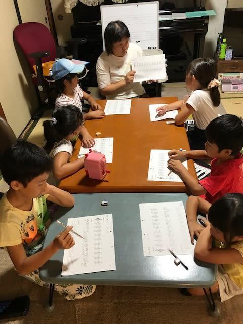 夏休み特別企画 ピアノコース 寺子屋作戦 実施しました