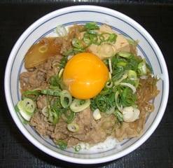 牛鍋丼+ねぎ玉子