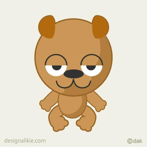 かわいい動物キャラクターのイラスト デザインとイラストとアバター