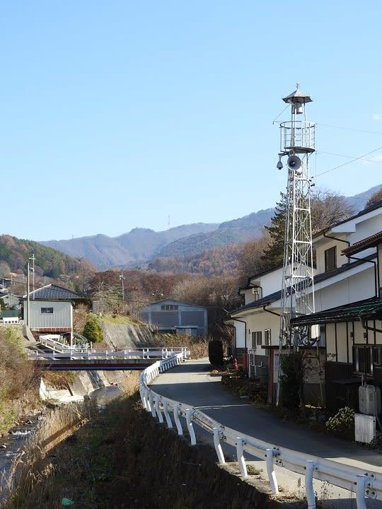 北相木村久保の火の見櫓 - 透明タペストリー