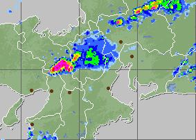 レーダー 京都 雨雲