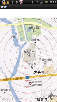 地図 同心円