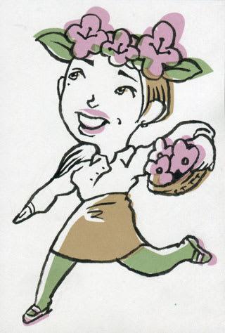 松島花似顔絵イラスト画像