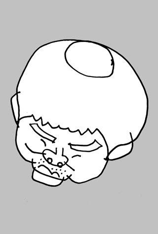 フットボールアワー岩尾望の似顔絵