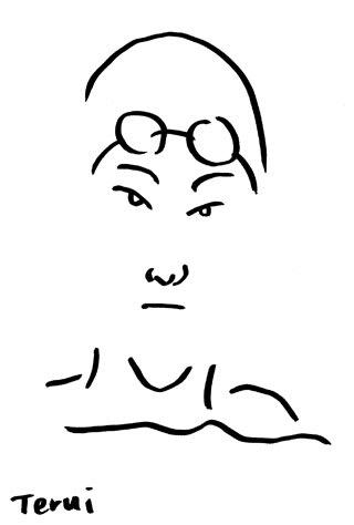瀬戸大也の似顔絵