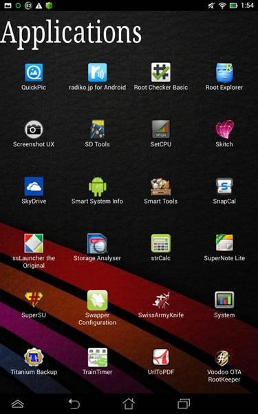 タブレット ASUS MeMO Pad HD7のroot取得 - Easygoing Style