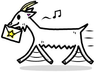 山羊 やぎ座 イラスト シンプルイラスト素材